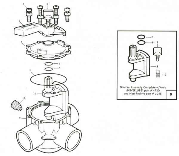 Jandy Three Way Valve Parts Diagram