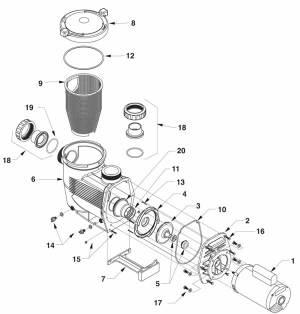Jandy JHP Pump,Jandy JHPU Pool Pumps Parts List