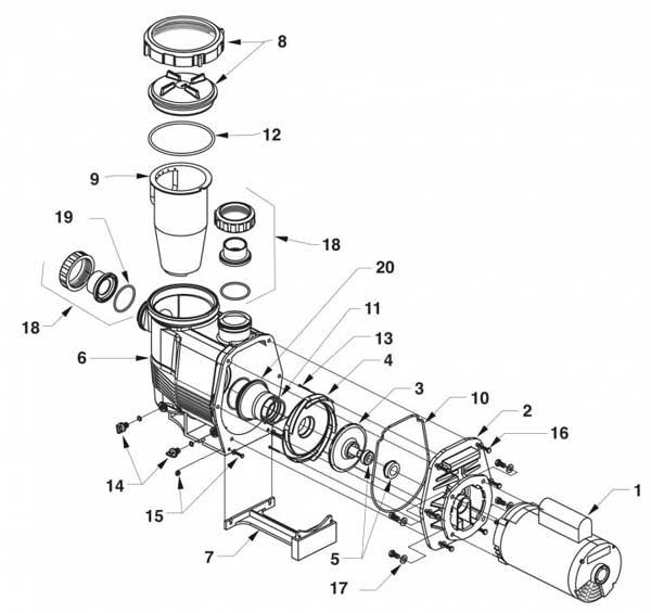 Jandy PHP Pump,Jandy PHPU Pool Pumps Parts List