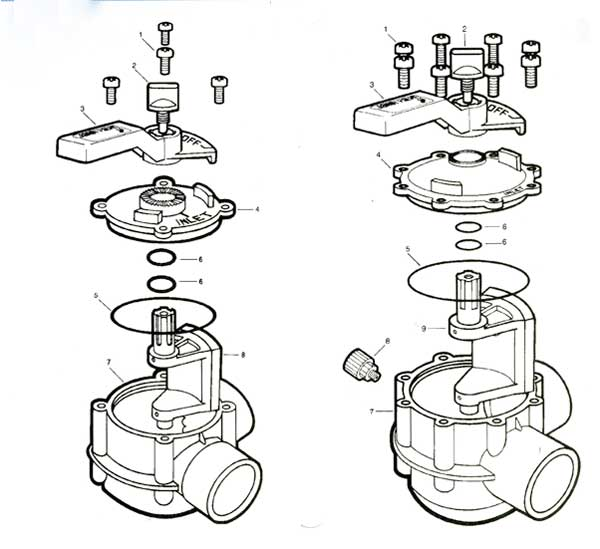 Jandy Two Way Valve Parts Diagram