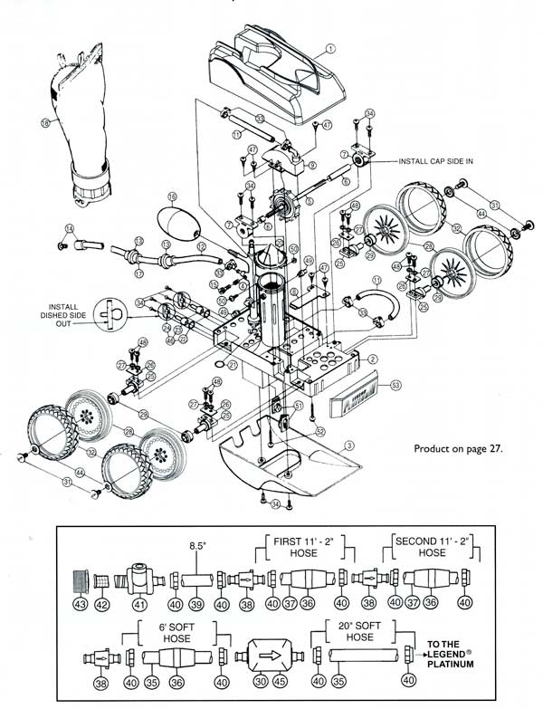 Letro Legend Platinum Pool Cleaners, Parts Diagram