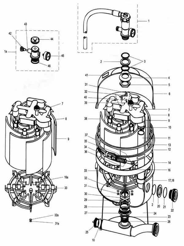 Pac Fab Nautilus FNS Pool Filter Parts Diagram