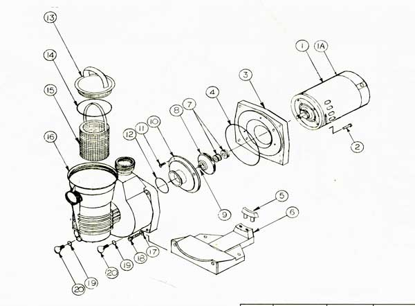 Pentair Pinnacle Pump Parts Diagram