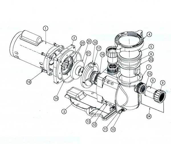 Pentair SuperFlo Pump Parts Diagram