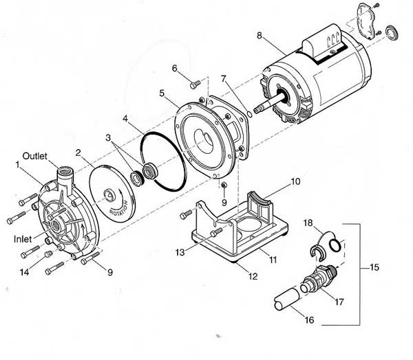 Polaris PB4-60 Booster Pump Parts Diagram