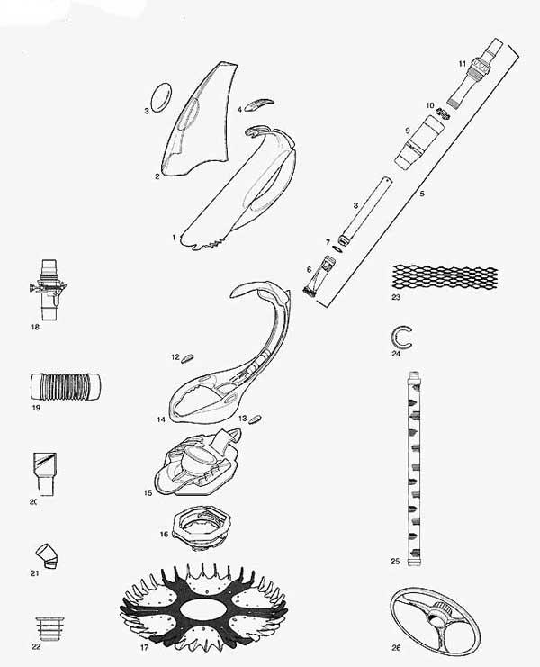 baracuda pool cleaner parts diagram isuzu npr 400 wiring swimming g4