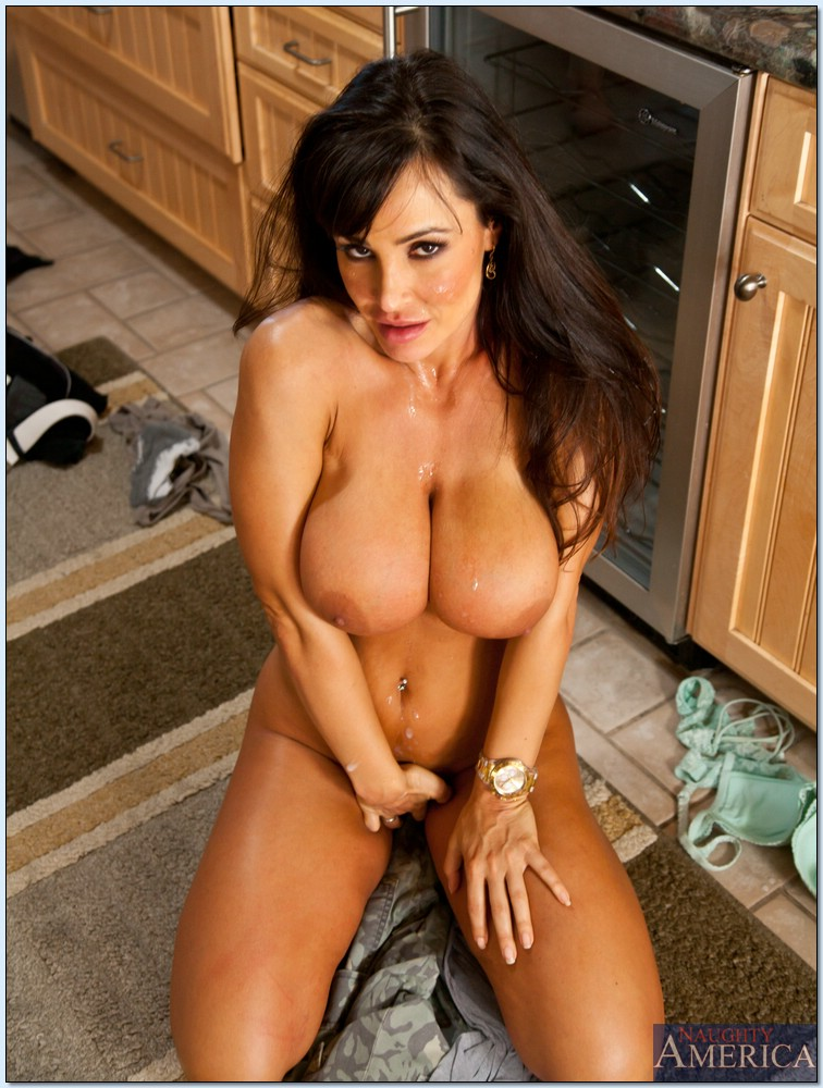 Lisa Ann fucking a handsome boy in the kitchen  My