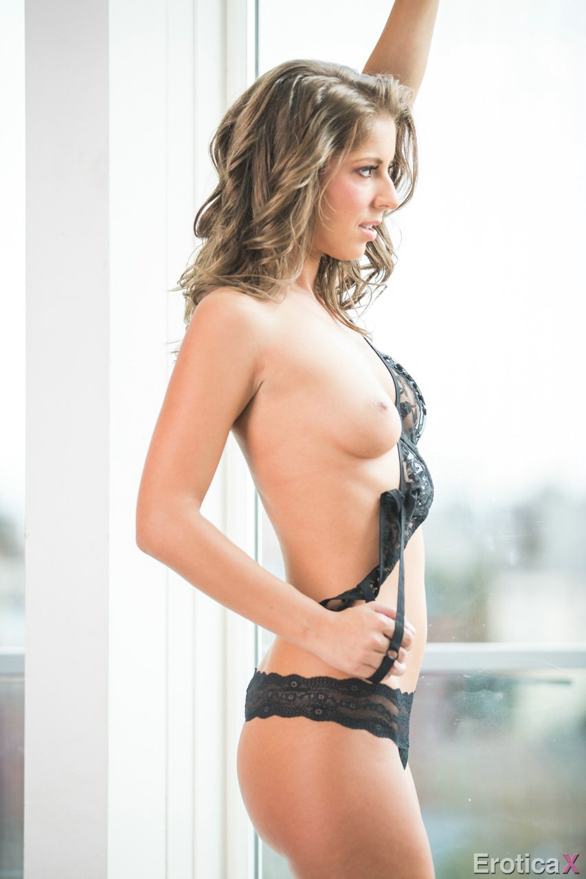 Presley Hart takes off her sexy black bra and panties  My