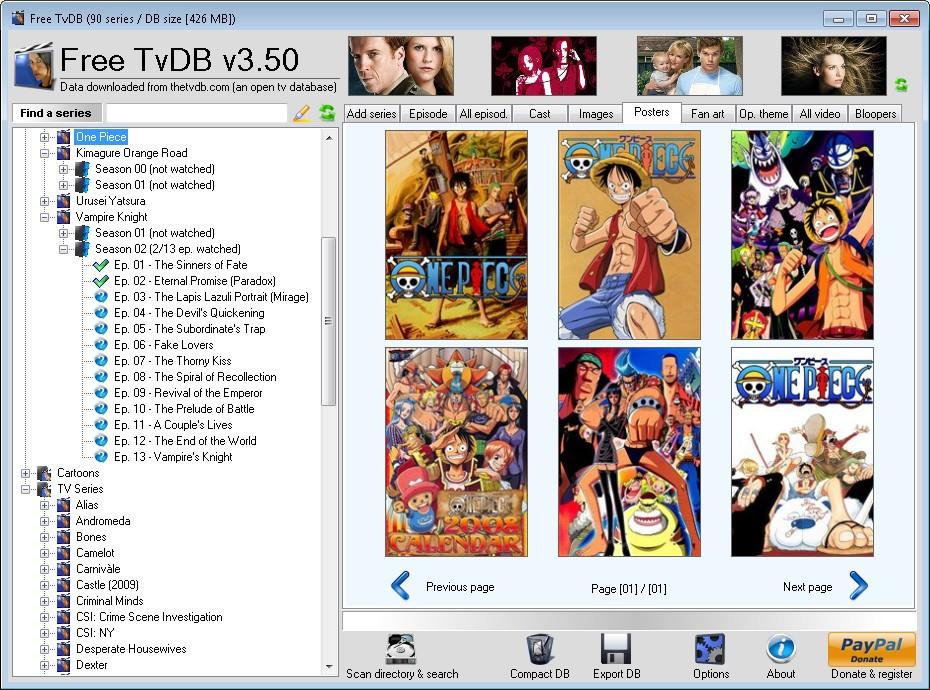 free tvdb tv series