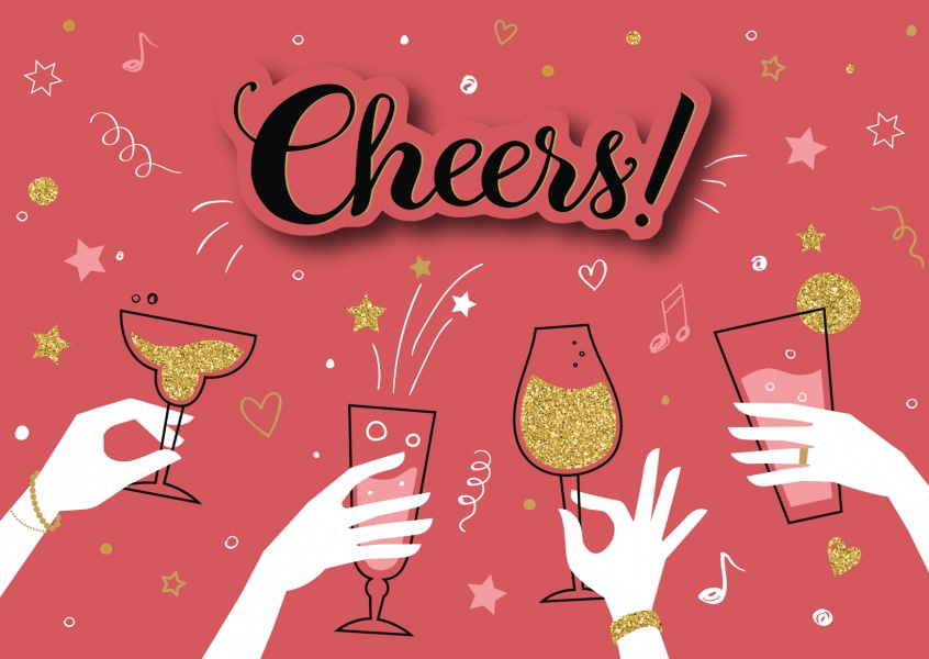Cheers! Congratulations Send Real Postcards Online