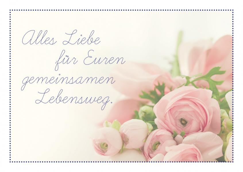 Fr Euren gemeinsamen Lebensweg  Glckwnsche  Echte Postkarten online versenden