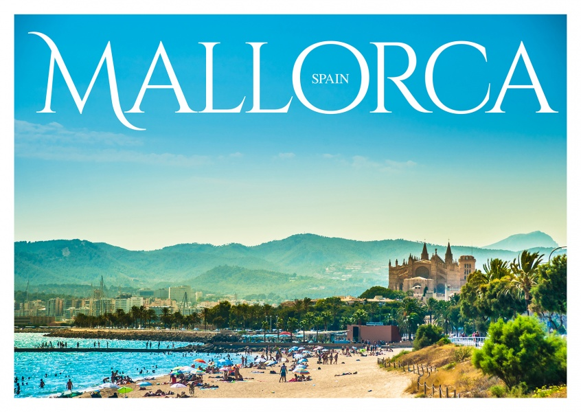 Best New Year Quotes Wallpaper Mallorca Spain Postcard Design Vacation Cards