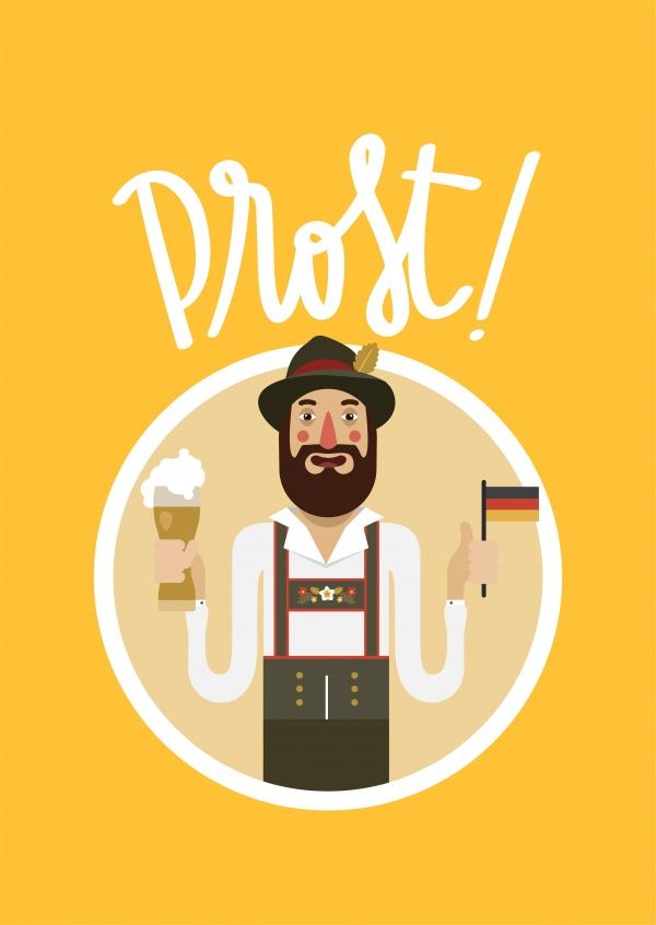 Prost Oktoberfest Send Real Postcards Online