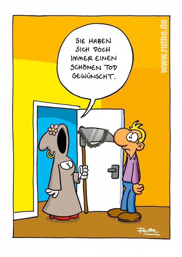 Schner Tod  Comic  Cartoons  Echte Postkarten online versenden