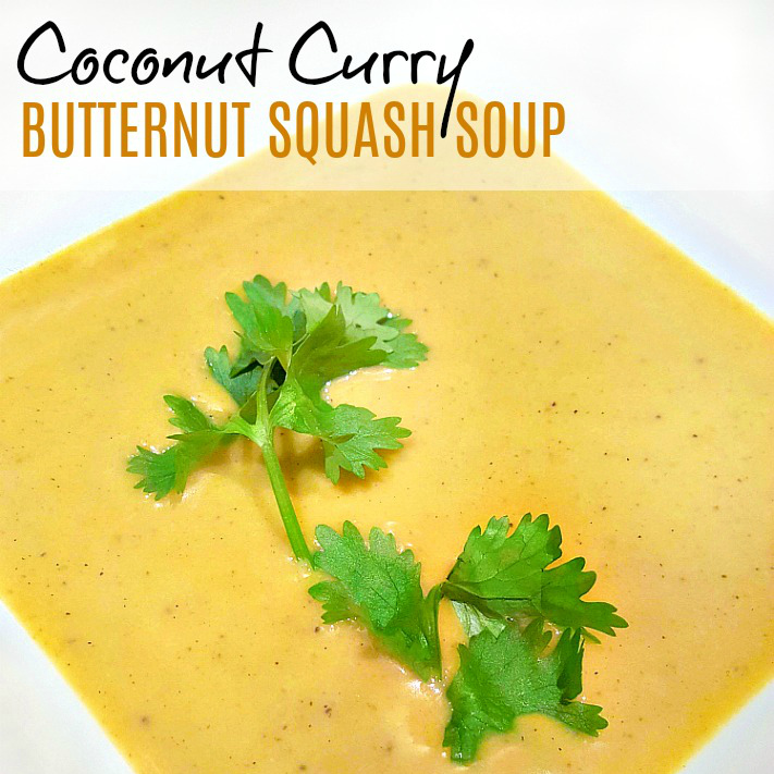 Coconut Curry Butternut Squash Soup - My Pretty Brown Fit
