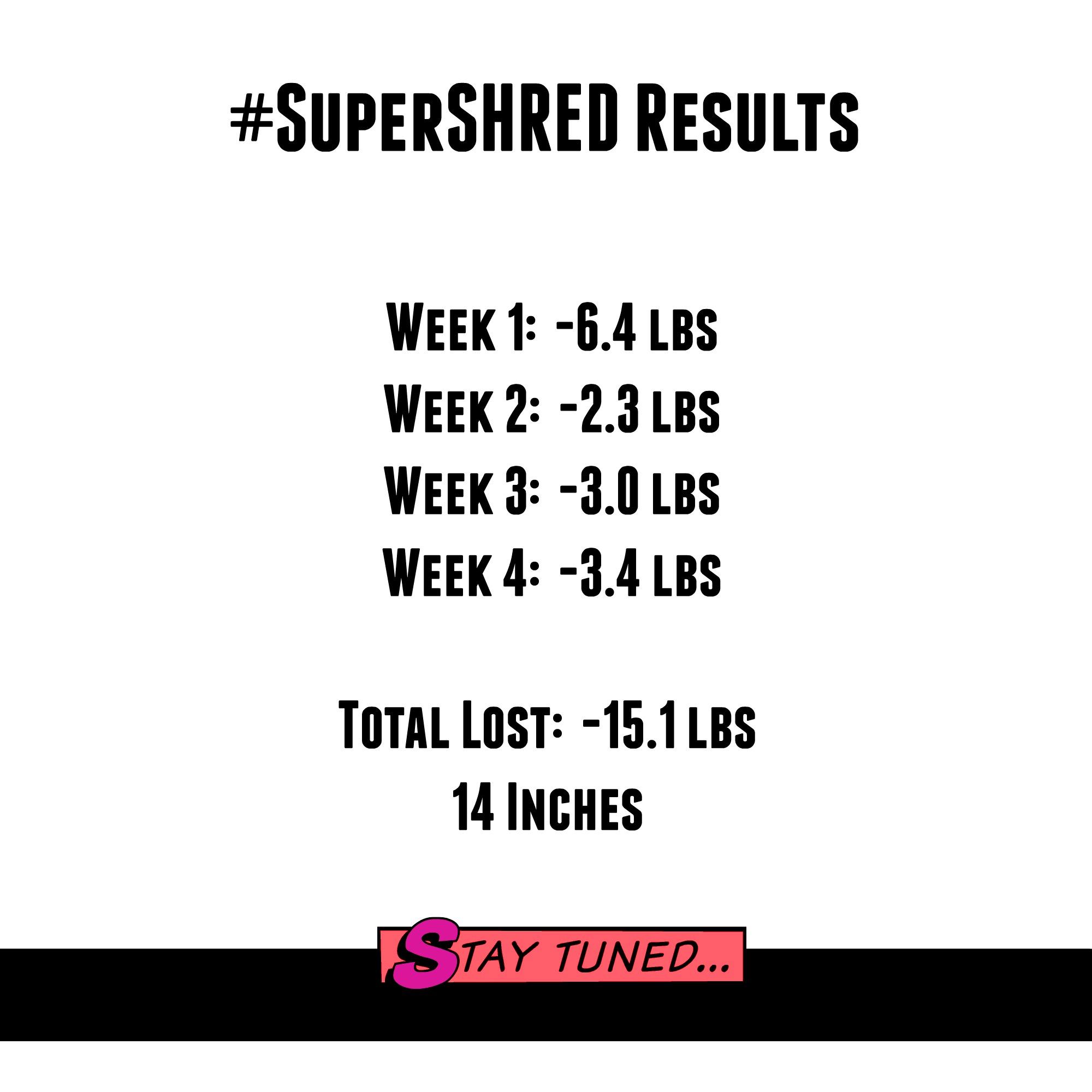 super shred diet week 1 day 2
