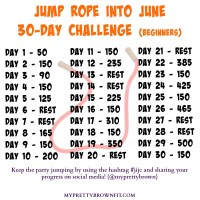Jump Rope Into June 30-Day Challenge #jijc