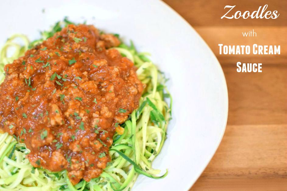 Zoodles with Tomato Cream Sauce 2