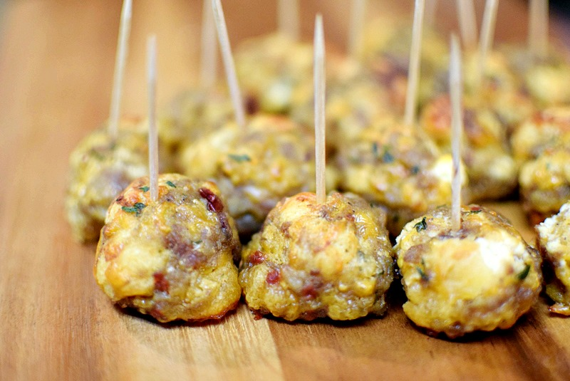 Cranberry Goat Cheese & Cheddar Crescent Sausage Balls - My Pretty Brown Fit