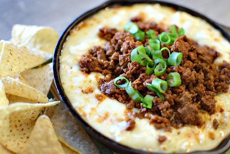 Chorizo Queso Dip by My Pretty Brown Fit