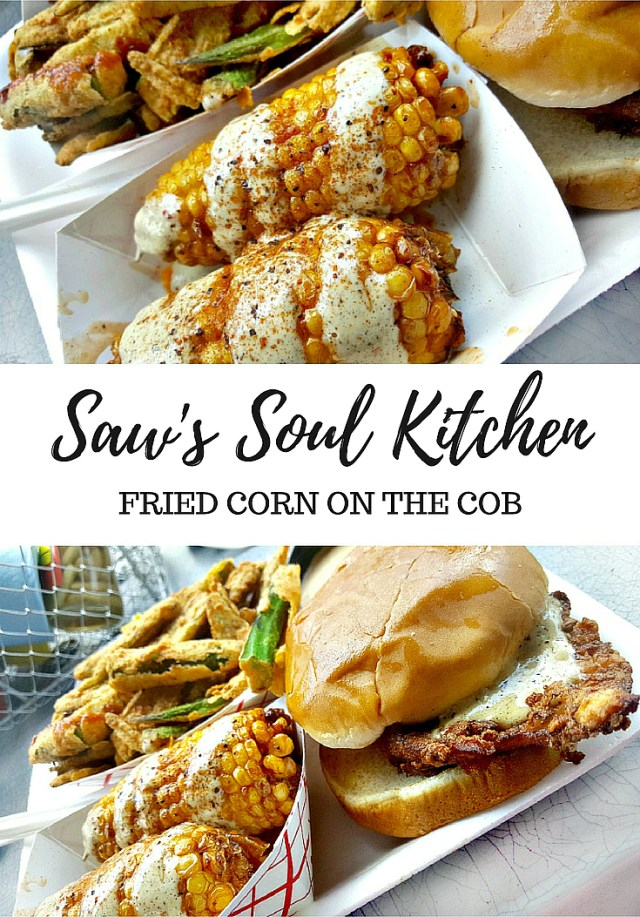 Saw's Soul Kitchen - Sweet Tea Chicken Sandiwch + Fried Corn | My Pretty Brown Fit