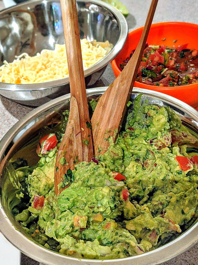 Chunky Tableside Guacamole - My Pretty Brown