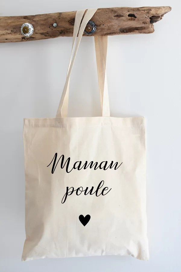 "Tote bag coton ""maman poule"""