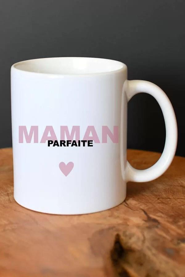 "mug en céramique ""maman parfaite rose"""