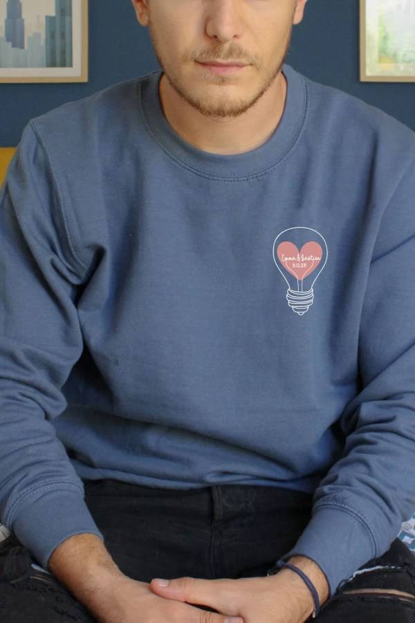 Sweat personnalisable couple St Valentin
