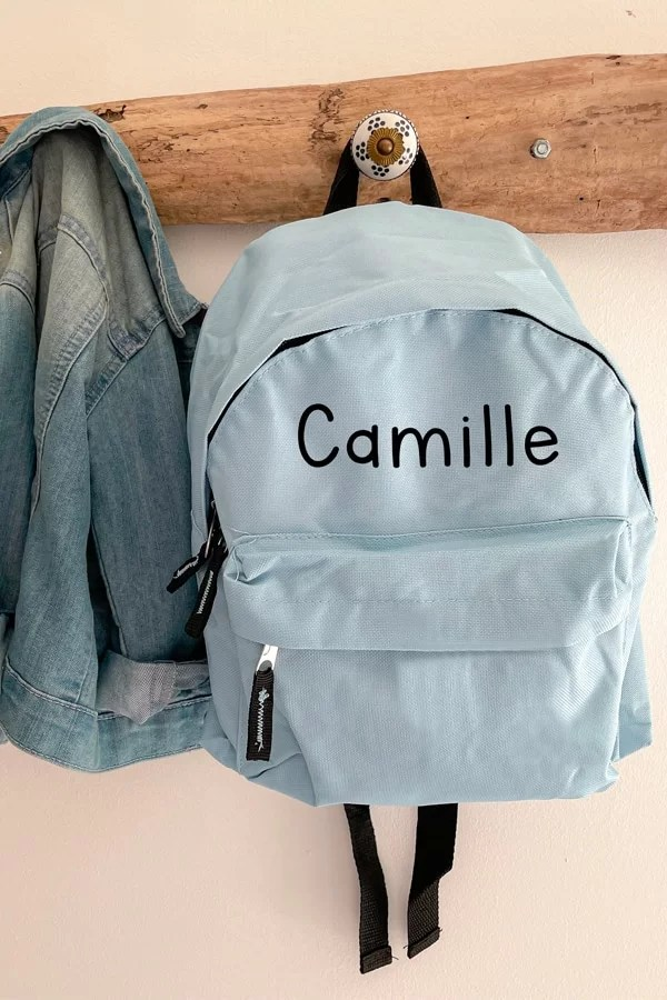 sac à dos bleu ciel personnalise