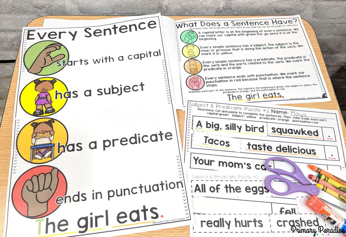 Sentences Using Subject And Predicate To Improve Student