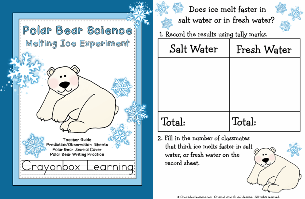 Melting Ice Preschool Worksheet