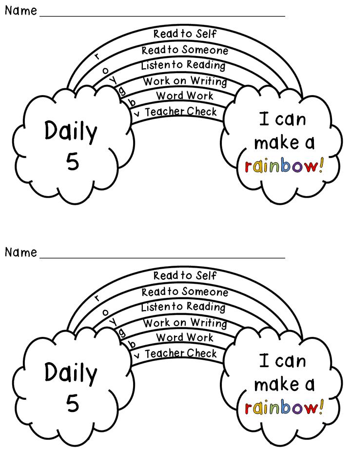 Freebie: Daily 5 Rainbow Tracker
