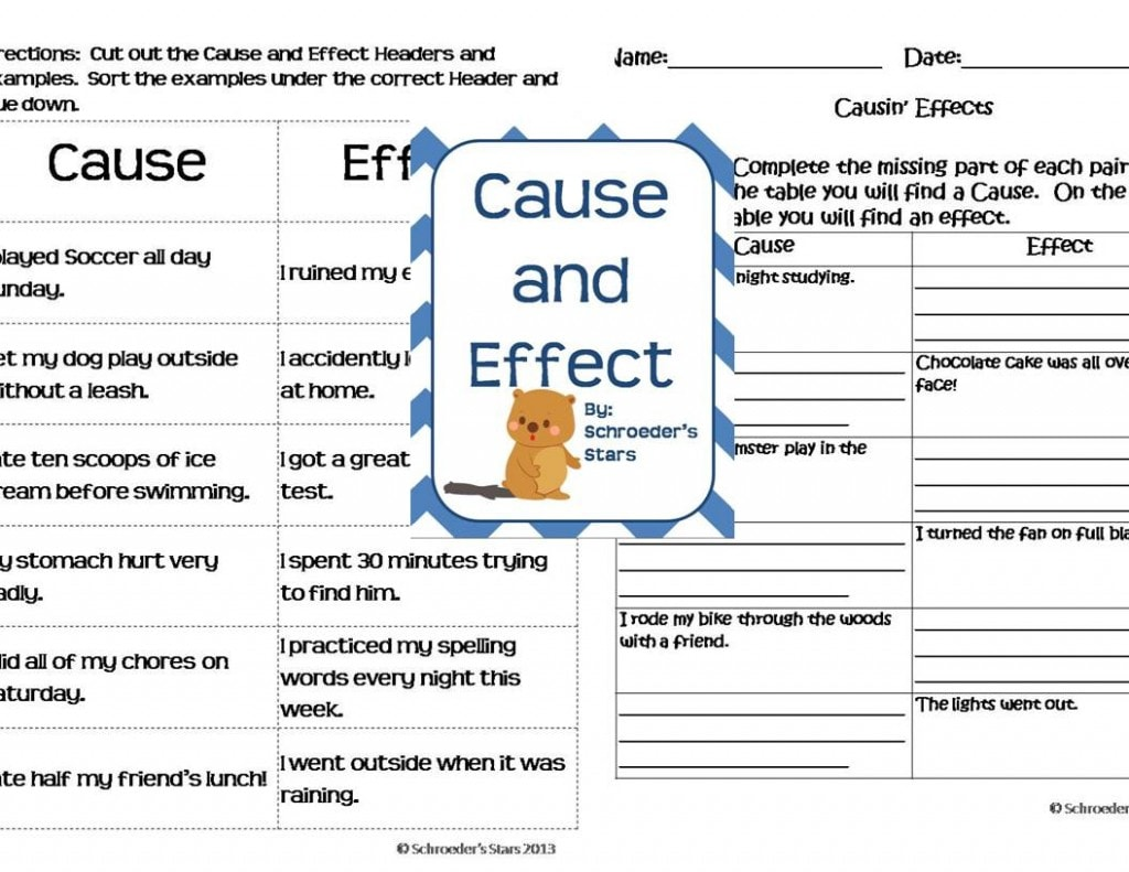 Cause And Effect Reading Comprehension Worksheet Beginner Or Images