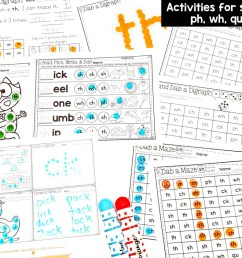 Digraph Activities: Dab and Learn Practice Worksheets [ 844 x 1125 Pixel ]