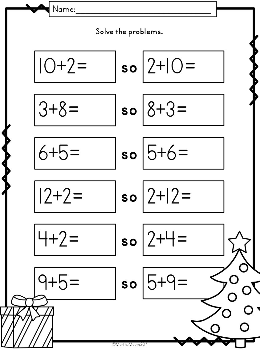 Christmas Math: Print and Go