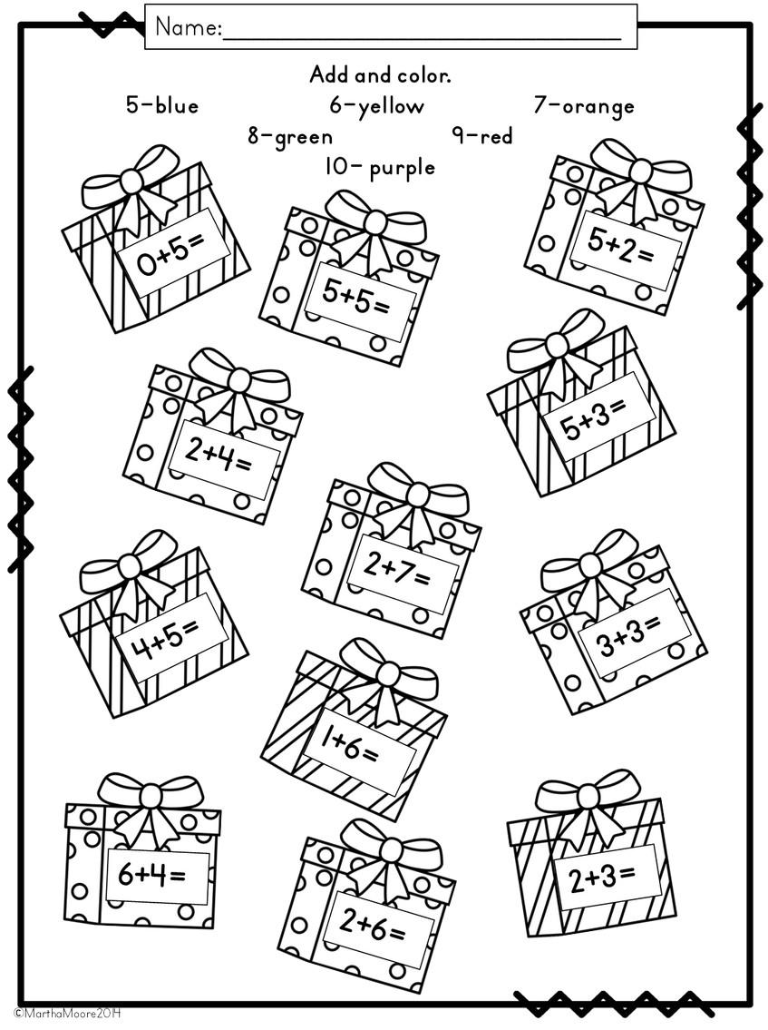 Christmas Math: Print and Go