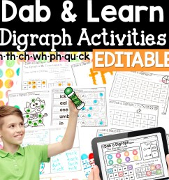 Digraph Activities: Dab and Learn Practice Worksheets [ 1152 x 1152 Pixel ]