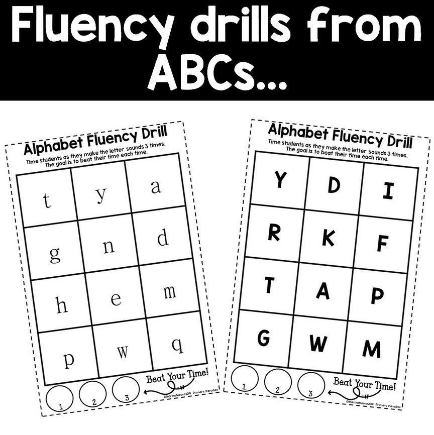 Fluency Drill Cards