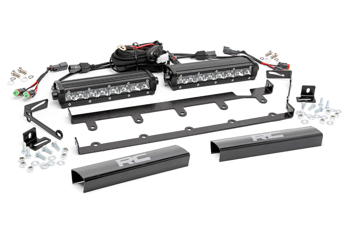 8 Inch Chrome Series Vertical Led Light Bar Grille Kit 2 Lights
