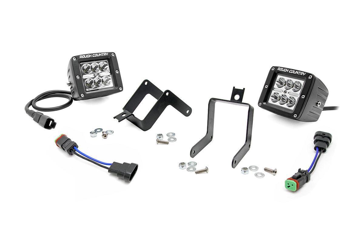 2 Inch Chrome Series Cree Led Fog Light Kit Ford Super