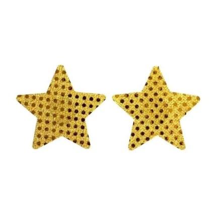Nipple Stickers- Sequin Look Stars - Waterproof - Pasties - Reusable