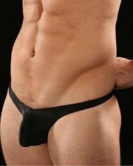 Sexy Men's Sling Shot G-String Thong Bikini Underwear – Solid- Acrylic Spandex-One Size