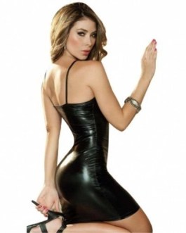 Spaghetti Strap Metallic Mini Club Dress-Size Large (Bust 36″-38″)  Club Wear