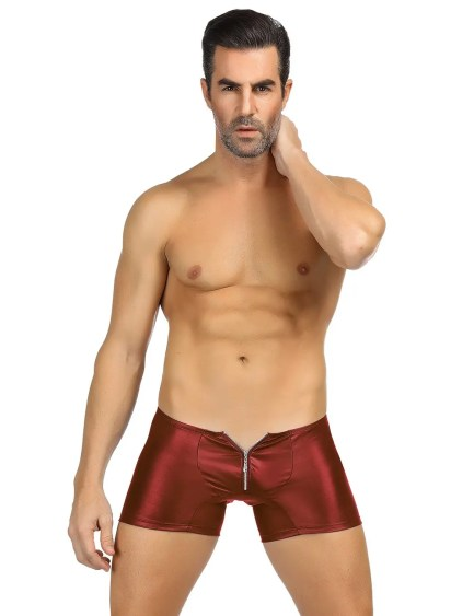 Boxer Briefs With Leather Look