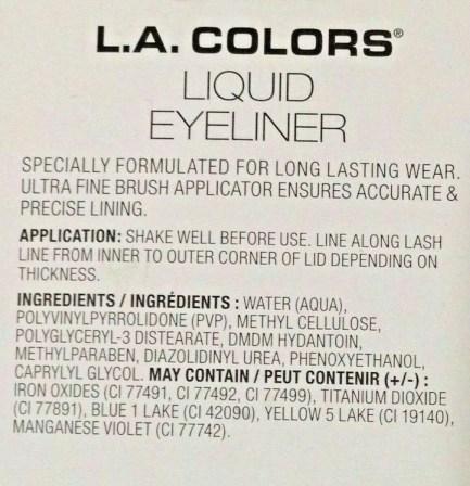 Colors Liquid Eyeliner