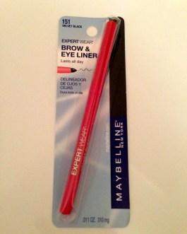 Maybelline Expert Wear Brow & Eye Liner VELVET BLACK 151