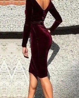 Women's Fashion Velvet Dress