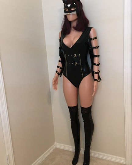 Leather Cat Woman Costume Halloween