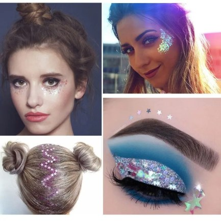 Cosmetic Glitter For Eyes, Face, Hair, Nails